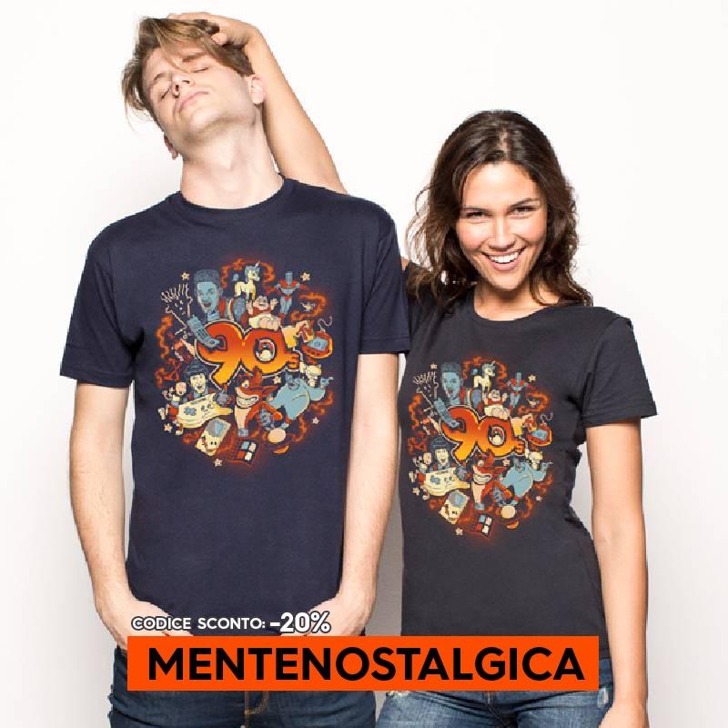 T-shirt anni 90 Pampling. Magliette nerd